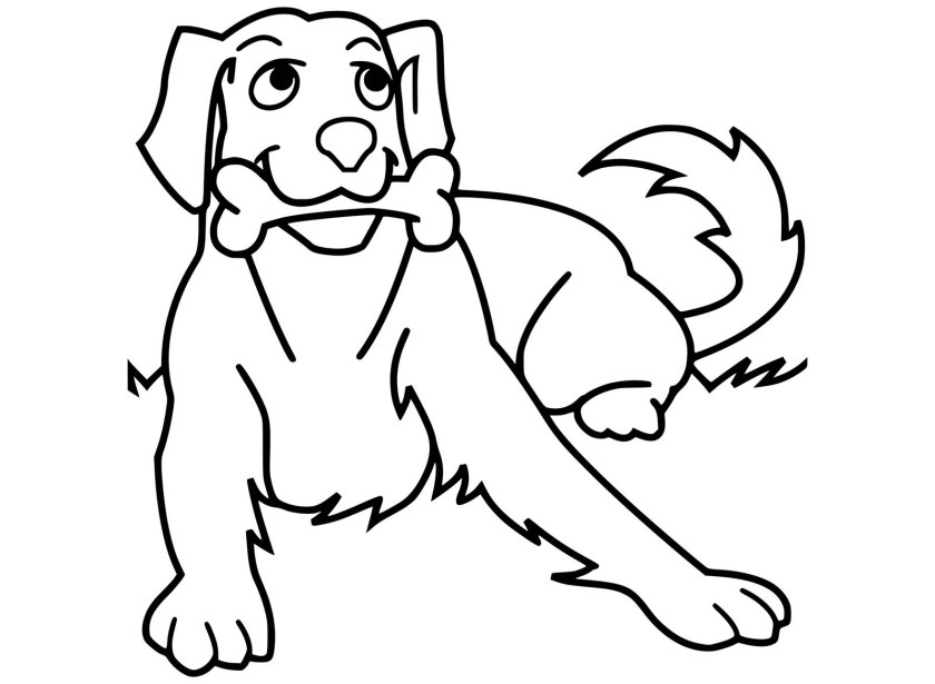dog to print  dog & bone  dogs kids coloring pages