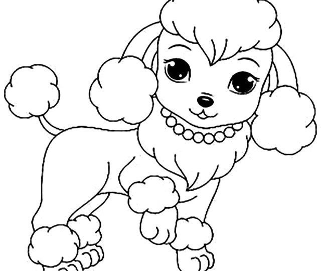 Dog Free To Color For Children Cute Female Dog Dogs Kids