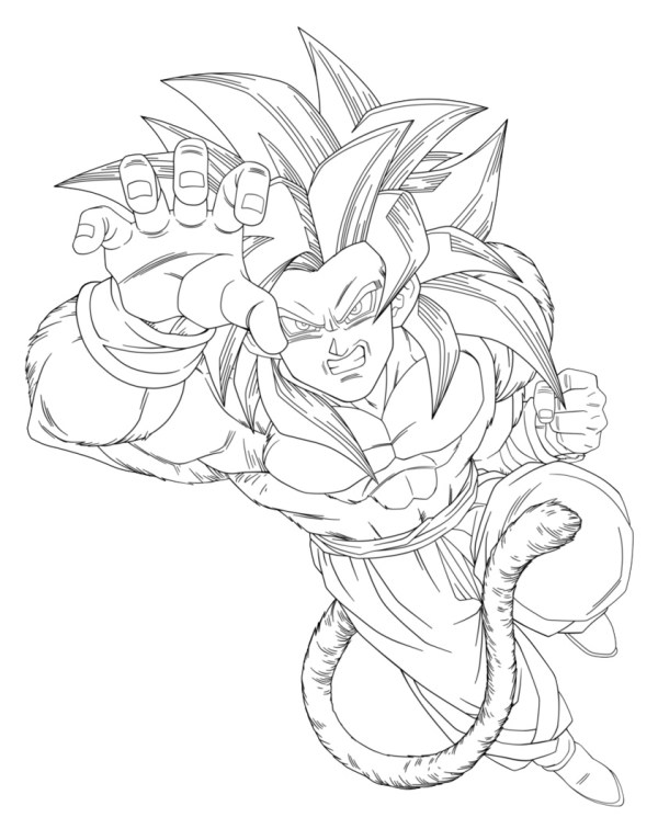 dragon ball gt coloring pages # 2