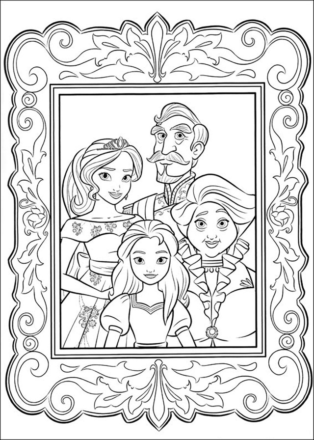 Elena avalor to download for free - Elena Avalor Kids Coloring Pages
