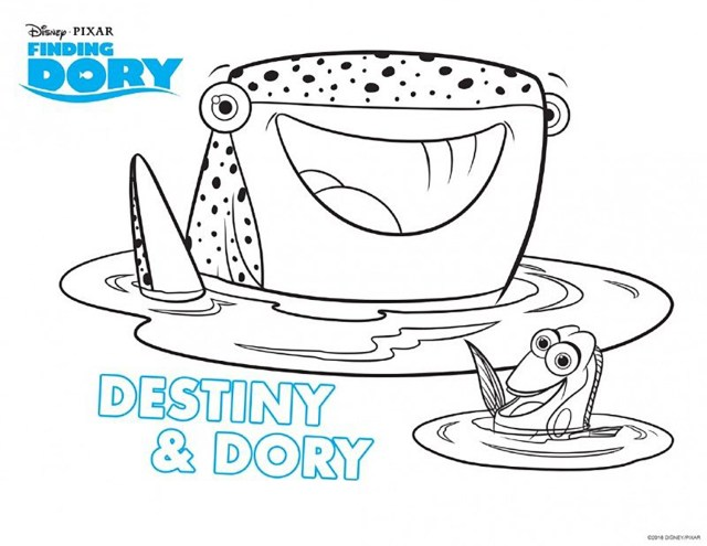 Finding dory to color for kids - Finding Dory Kids Coloring Pages