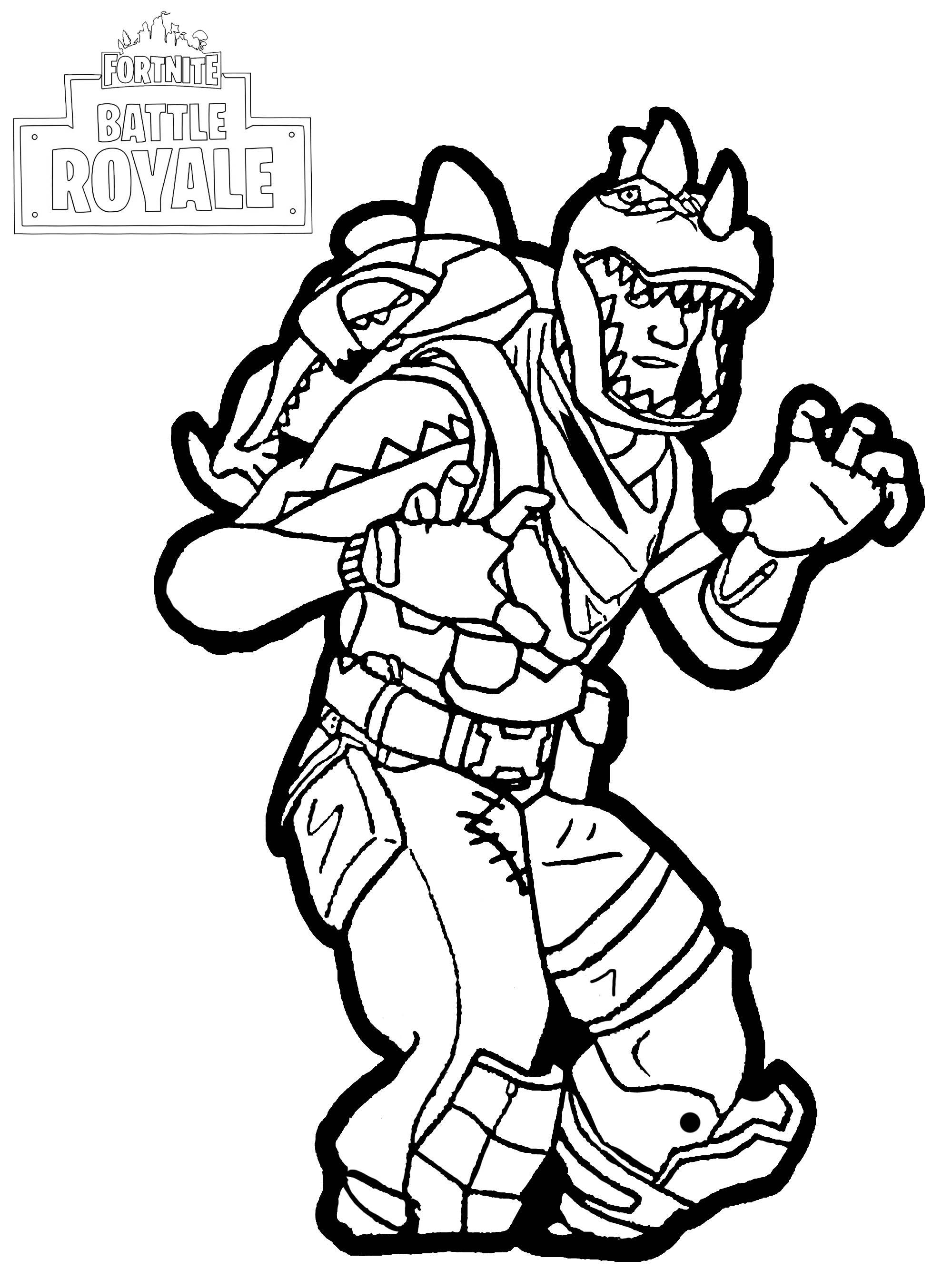 Skull Trooper Fortnite Coloring Pages