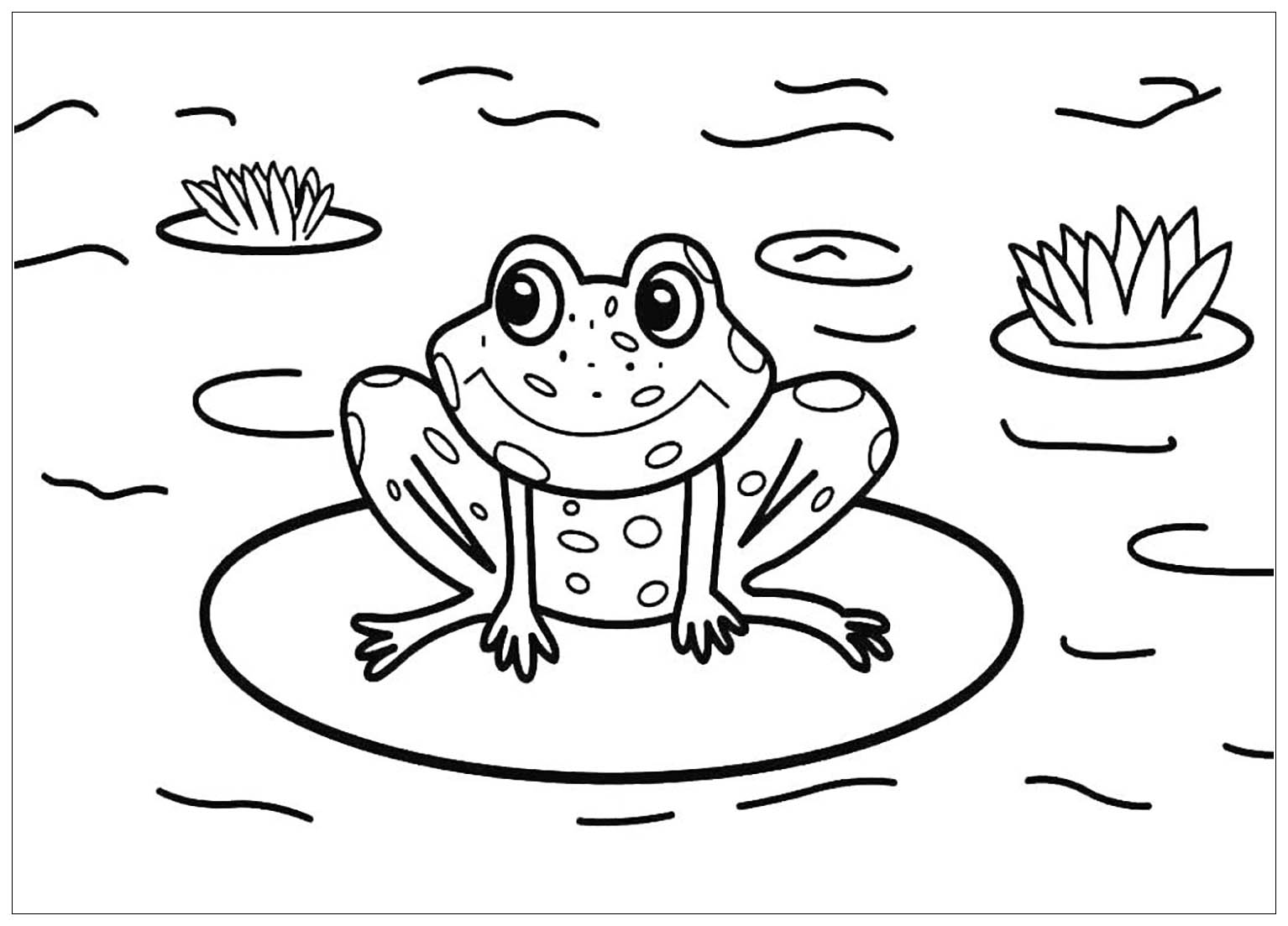 Cute Frog Pages Coloring Pages