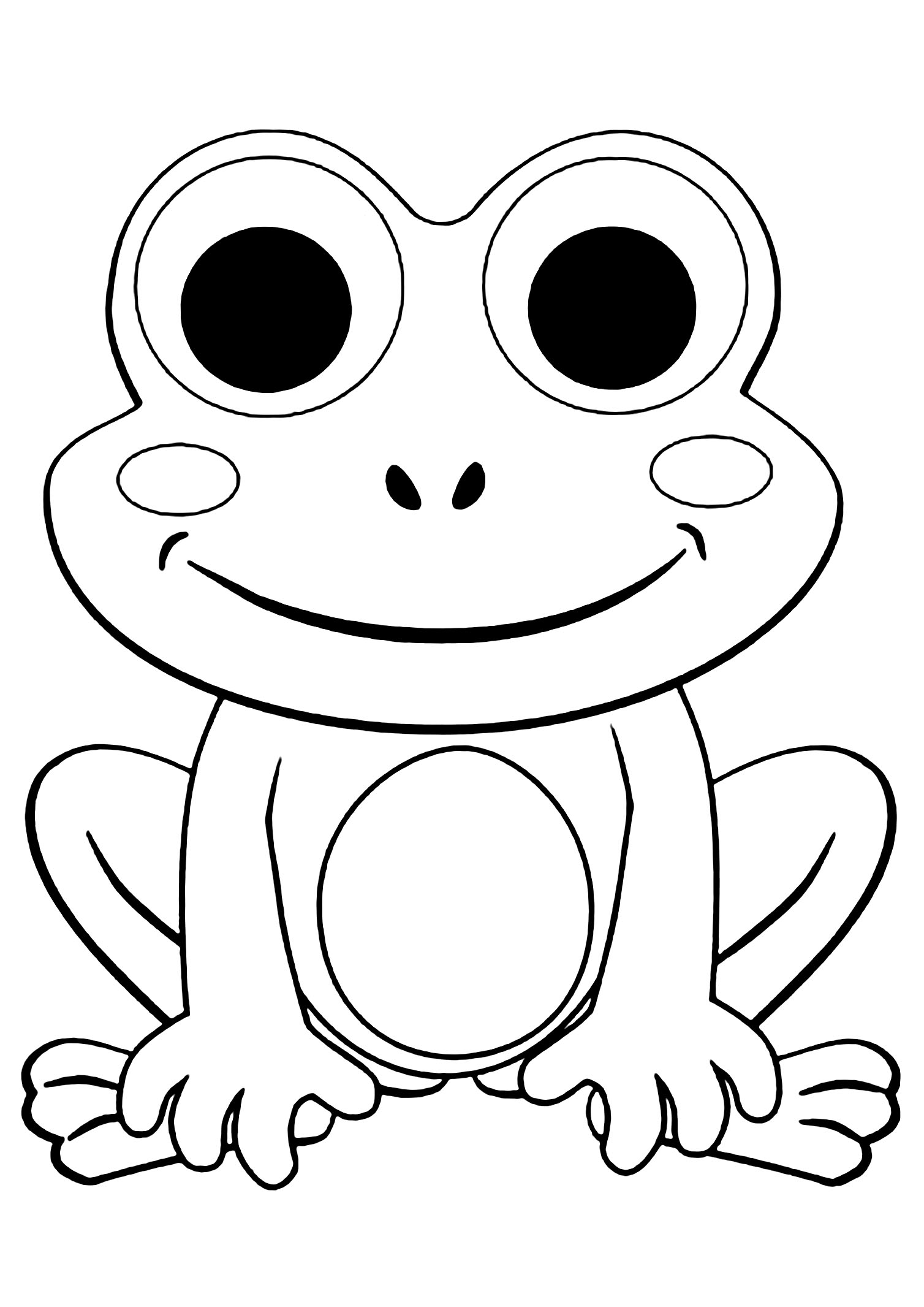 Frog Coloring Worksheets