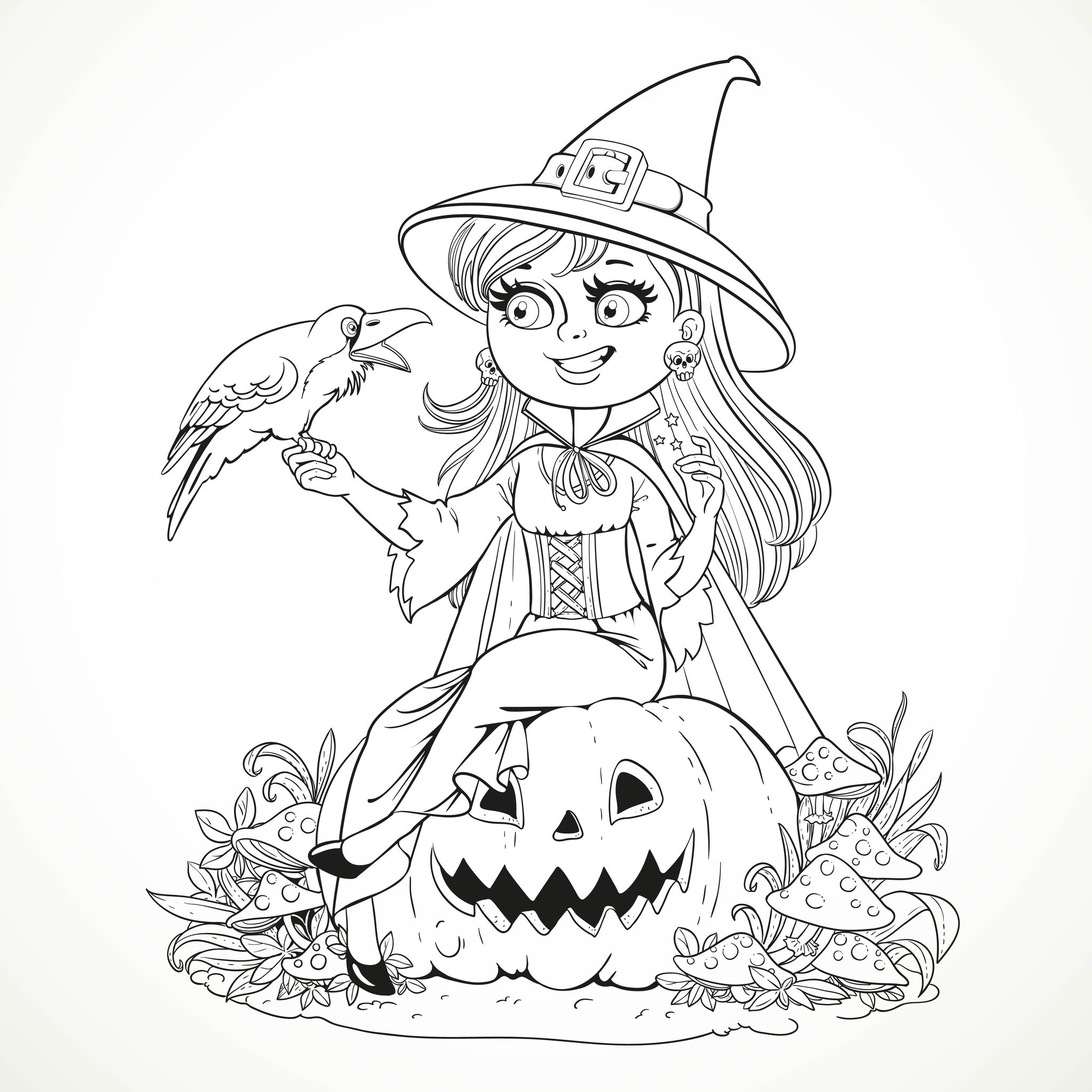 Halloween Free To Color For Children
