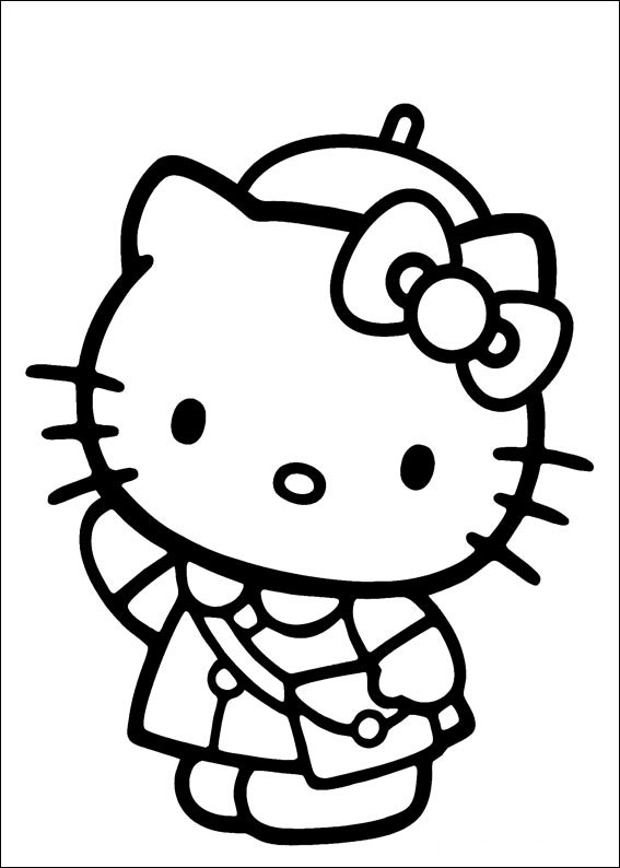 hello kitty free coloring pages # 82