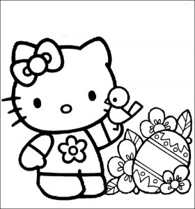 free printable hello kitty coloring pages # 2