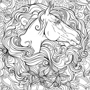 free printable horse coloring pages # 5