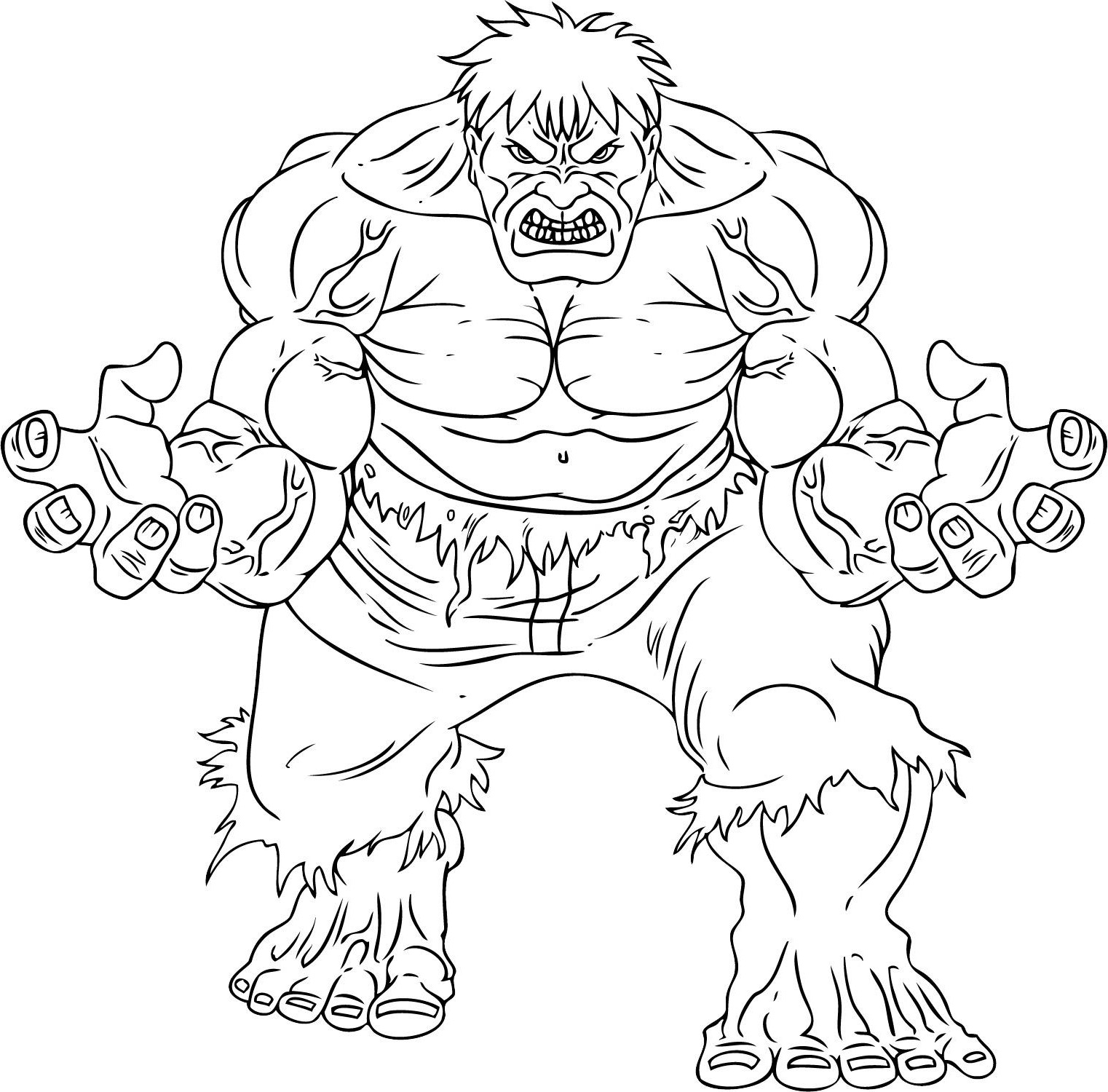 Hulk To Color For Children Hulk Kids Coloring Pages