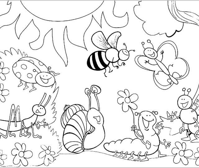 Insects For Children Insects Kids Coloring Pages