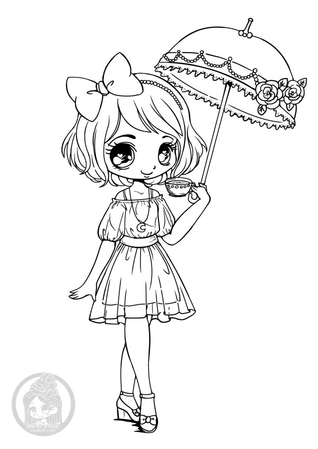Kawaii to download for free - Kawaii Kids Coloring Pages