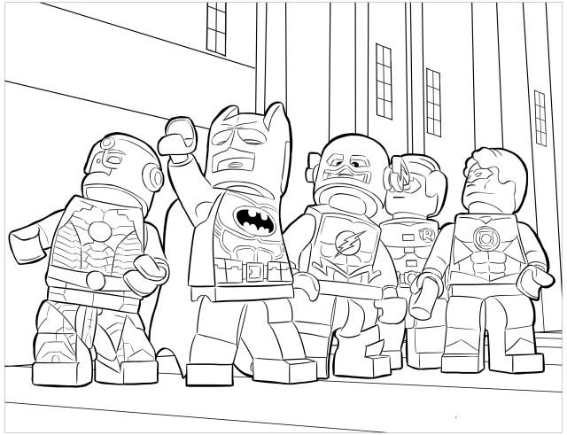 Lego batman to color for kids - Lego Batman Kids Coloring Pages