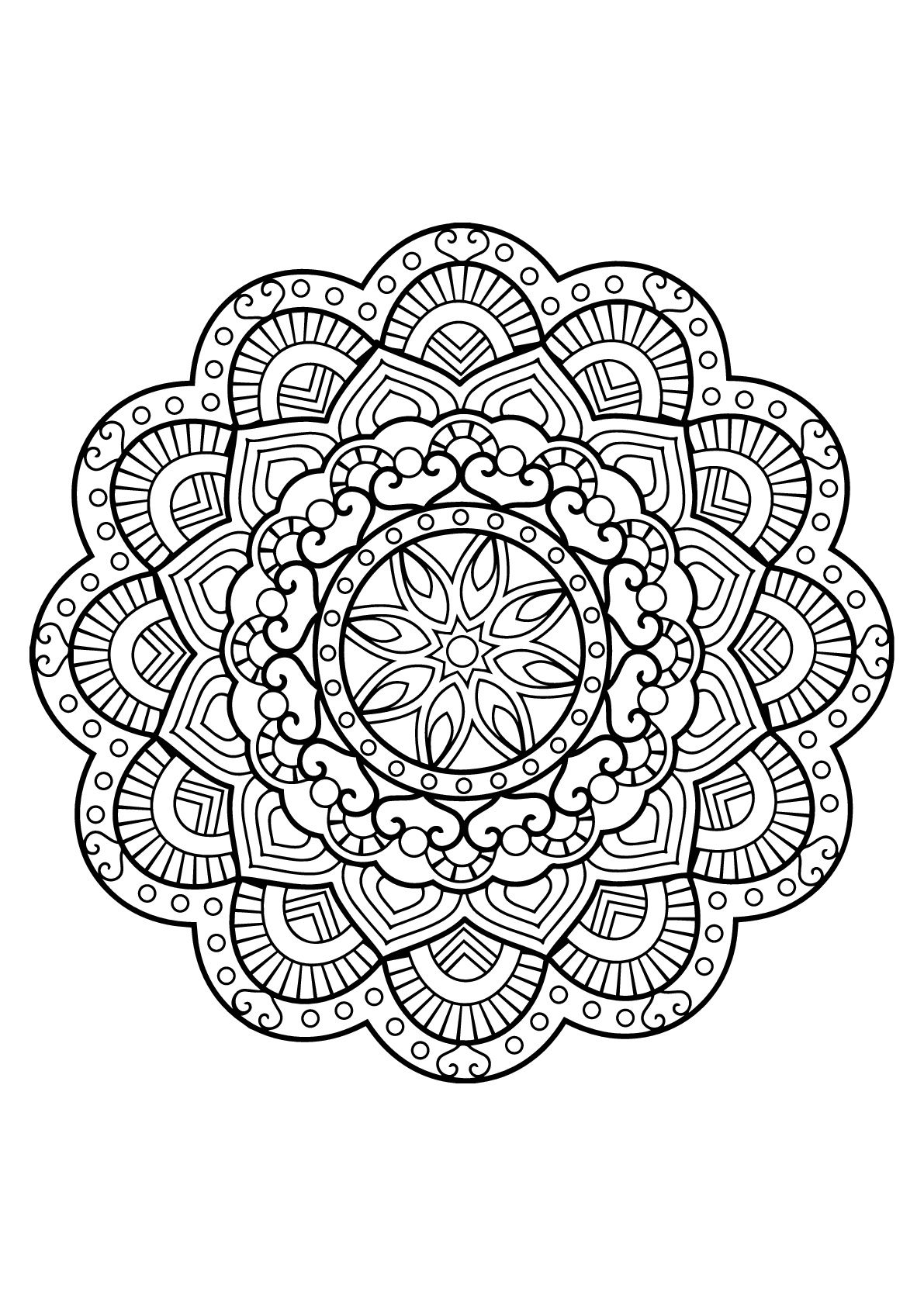 Mandalas To Color For Kids