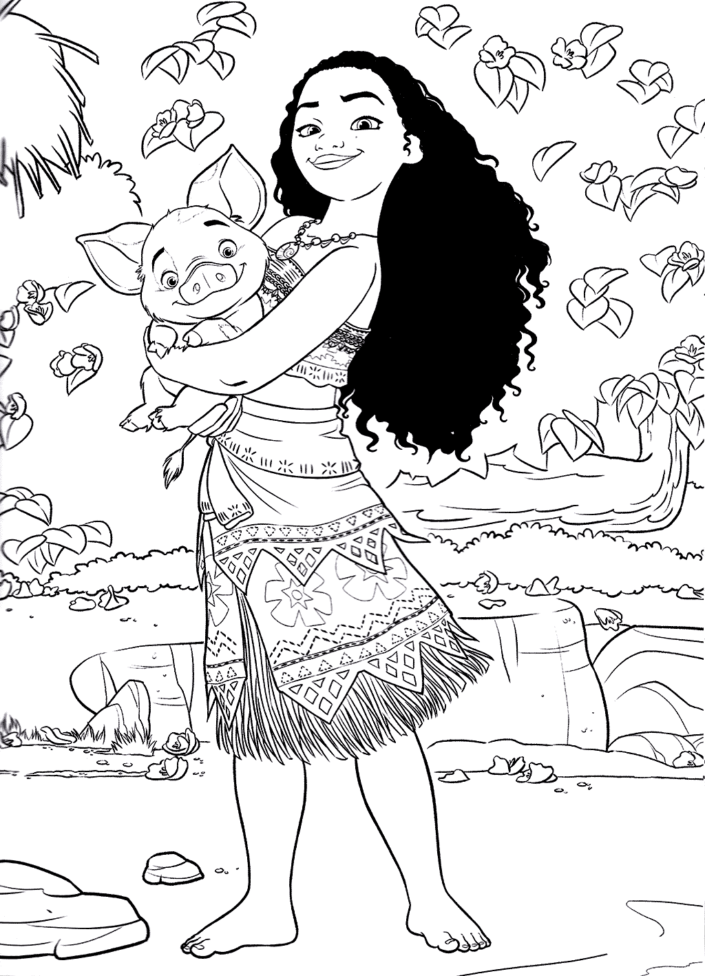 Moana To Color For Children Moana Kids Coloring Pages