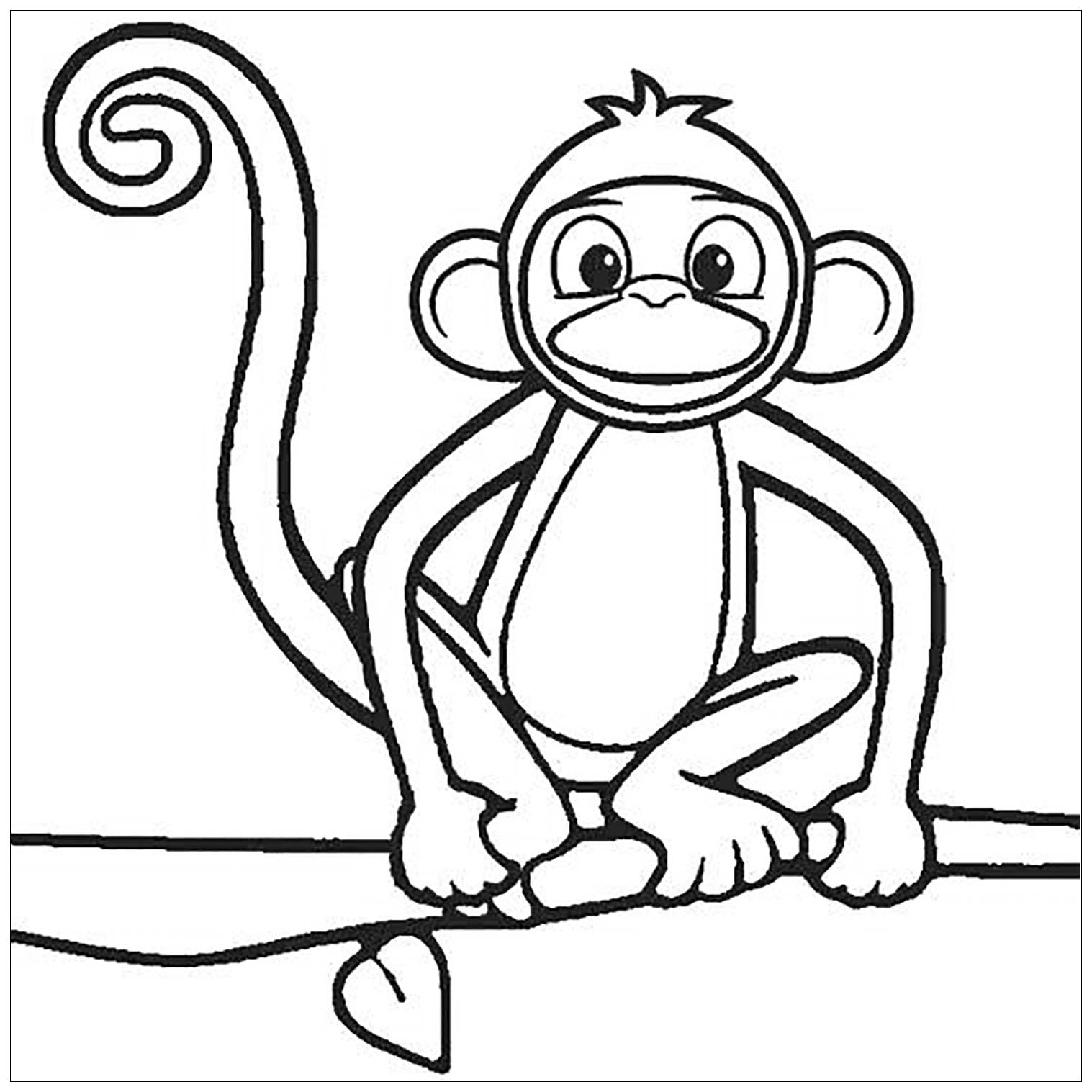 Monkeys To Color For Kids