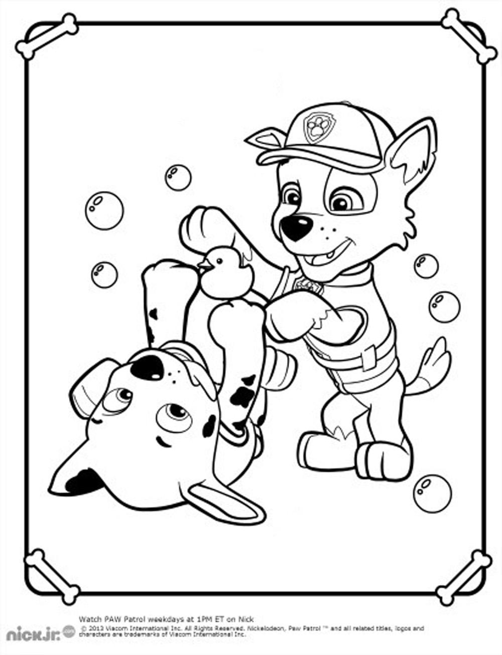 Paw Patrol To Download Paw Patrol Kids Coloring Pages