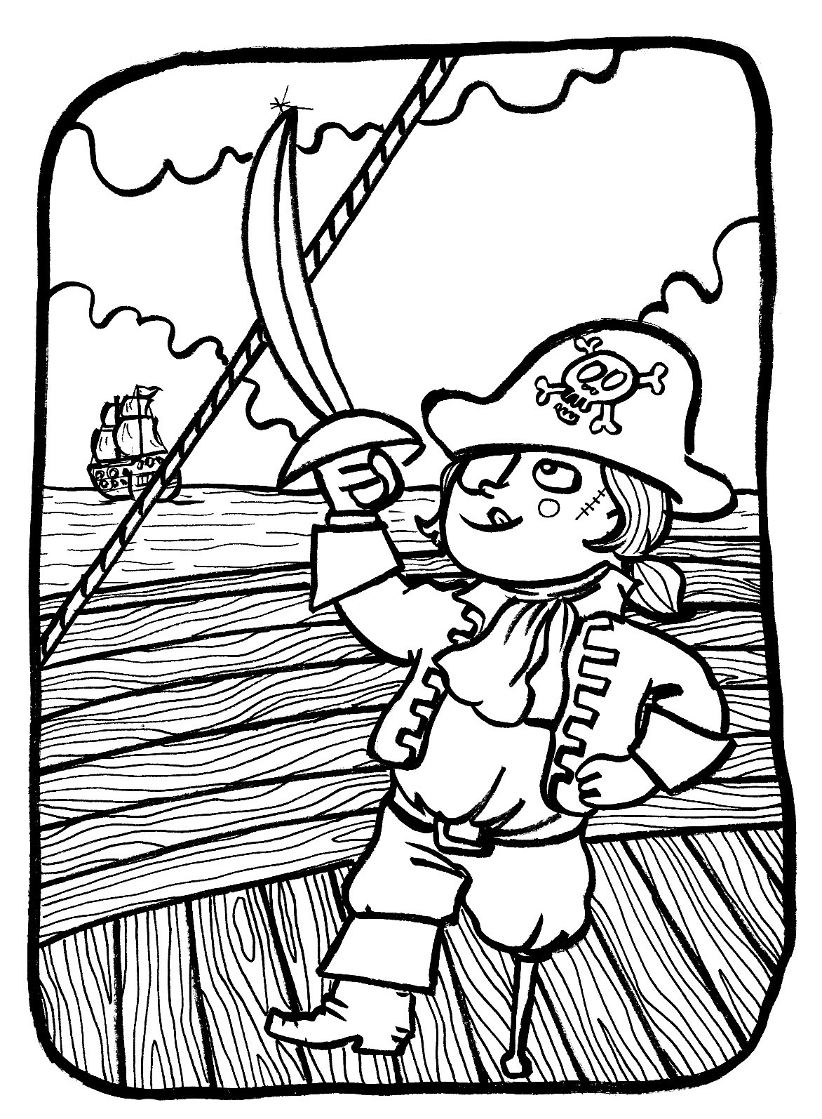 Pirates To Color For Children
