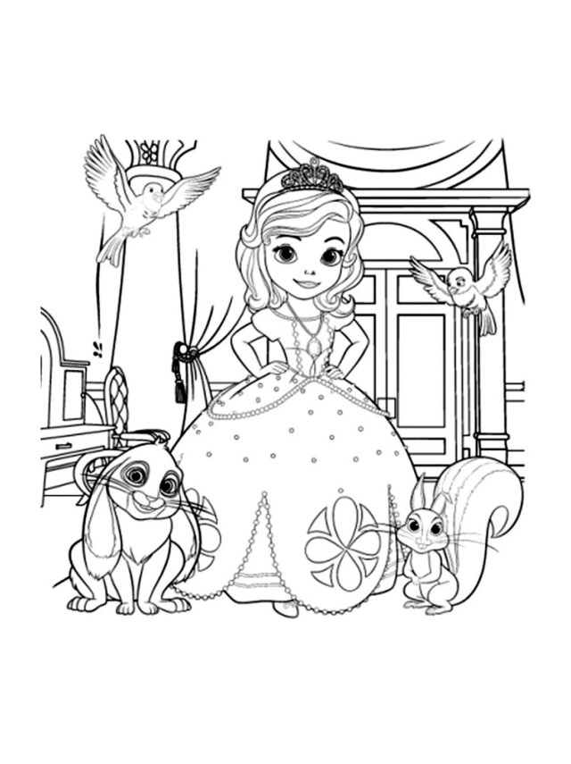 Princes sofia free to color for kids - Sofia the First Kids