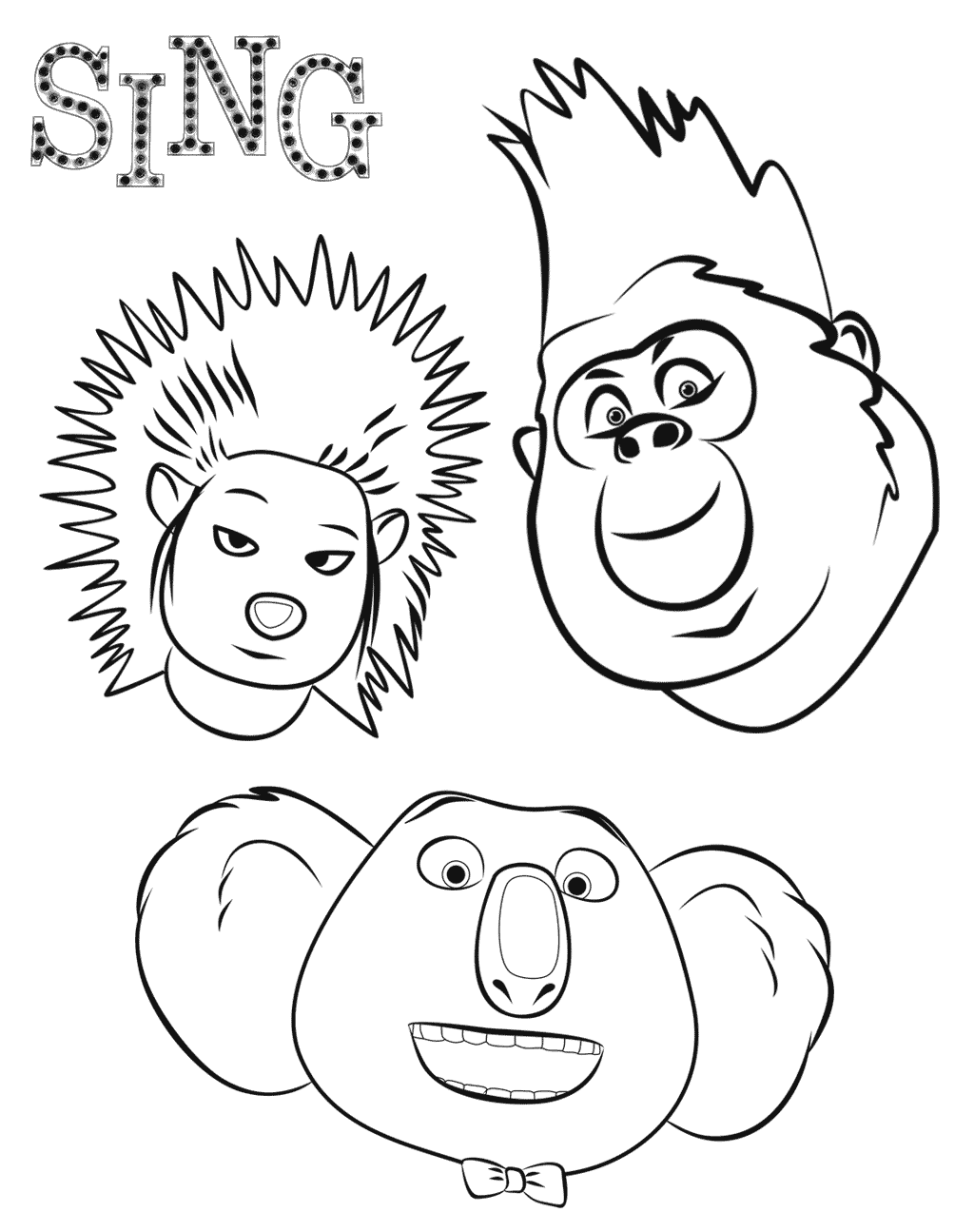 Sing To Color For Kids Sing Kids Coloring Pages