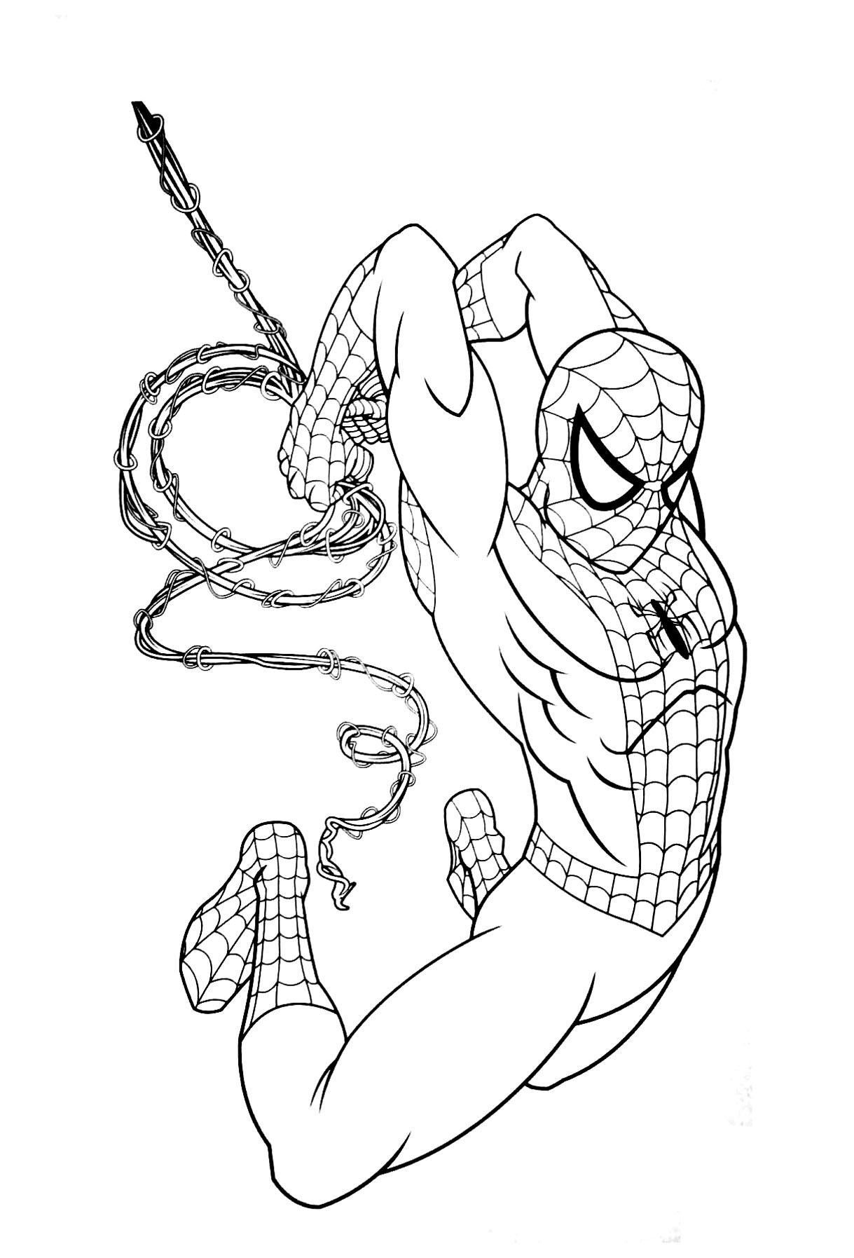 Spiderman Free To Color For Children