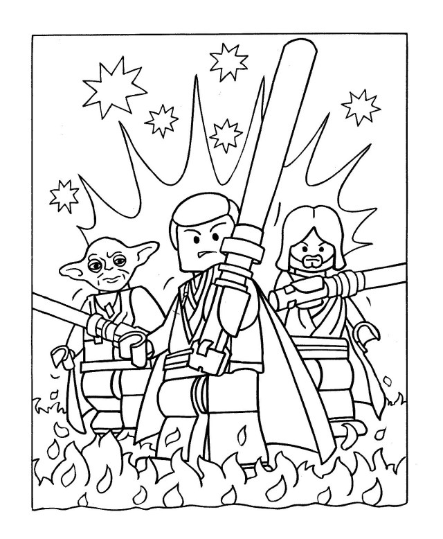Star wars to color for kids - Star Wars Kids Coloring Pages