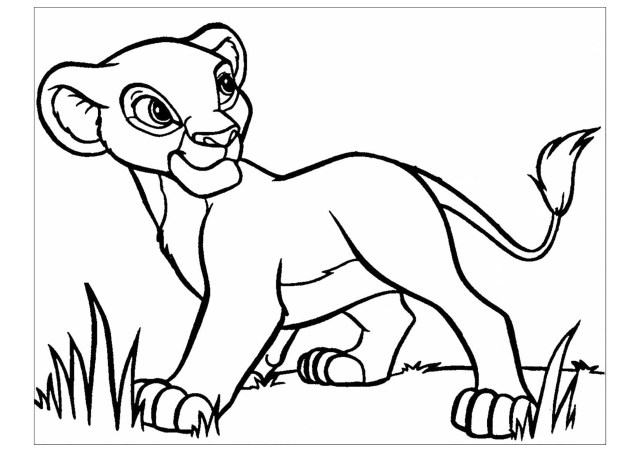 Young Simba - The Lion King Kids Coloring Pages
