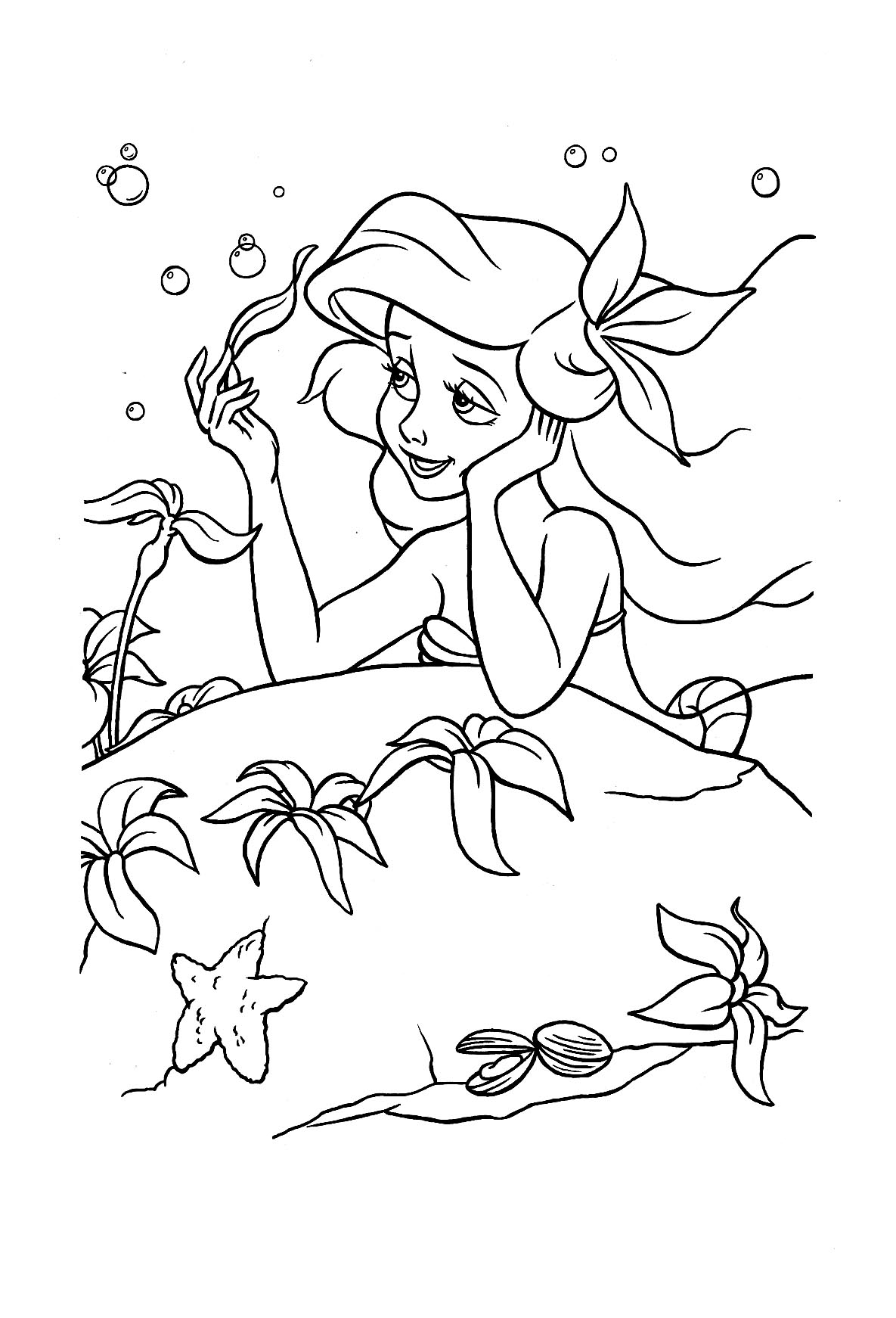 The Little Mermaid To Print The Little Mermaid Kids Coloring Pages