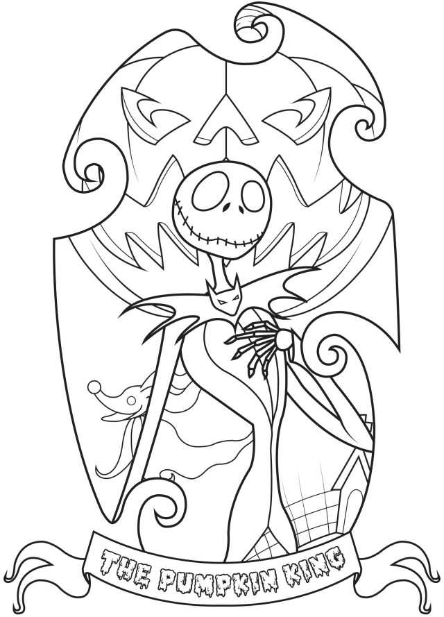 Jack Skellington - The Nightmare Before Christmas Kids Coloring Pages
