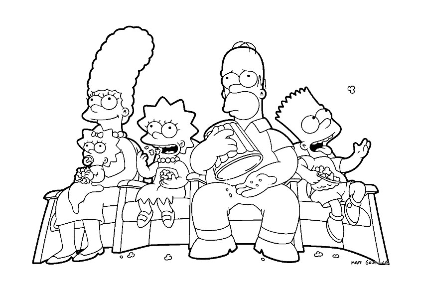 The Simpsons To Print For Free The Simpsons Kids Coloring Pages