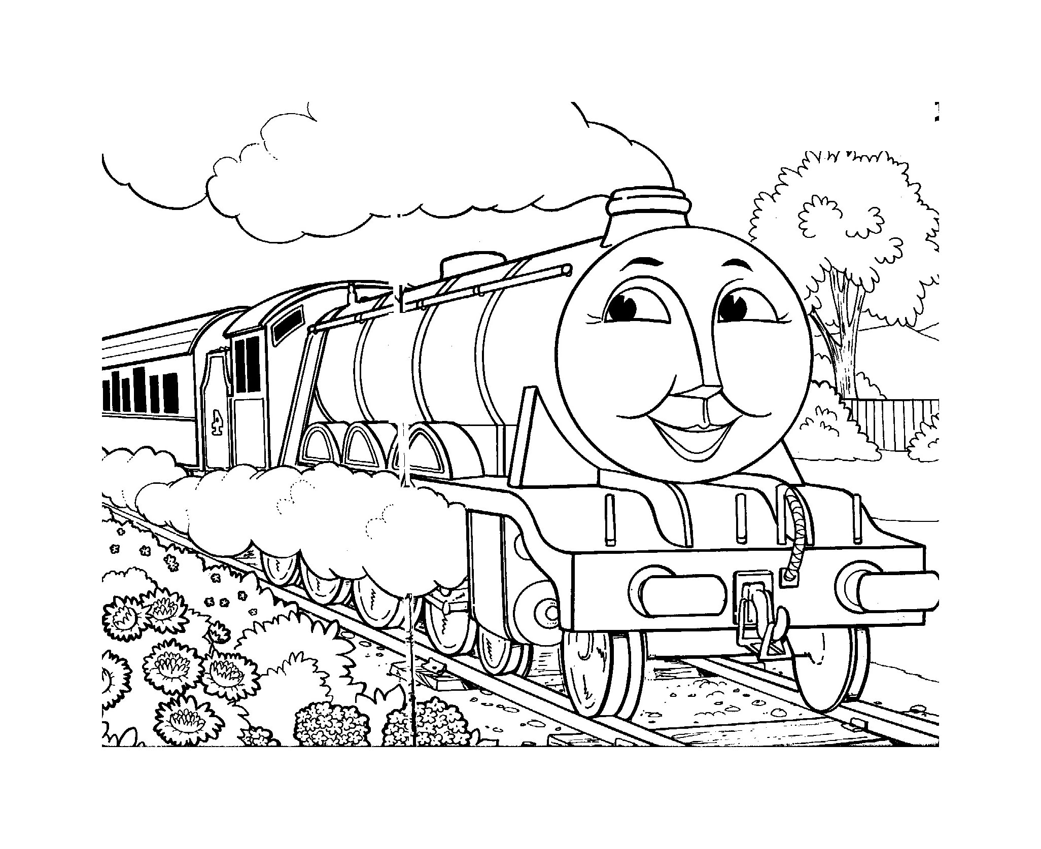Thomas And Friends To Color For Kids