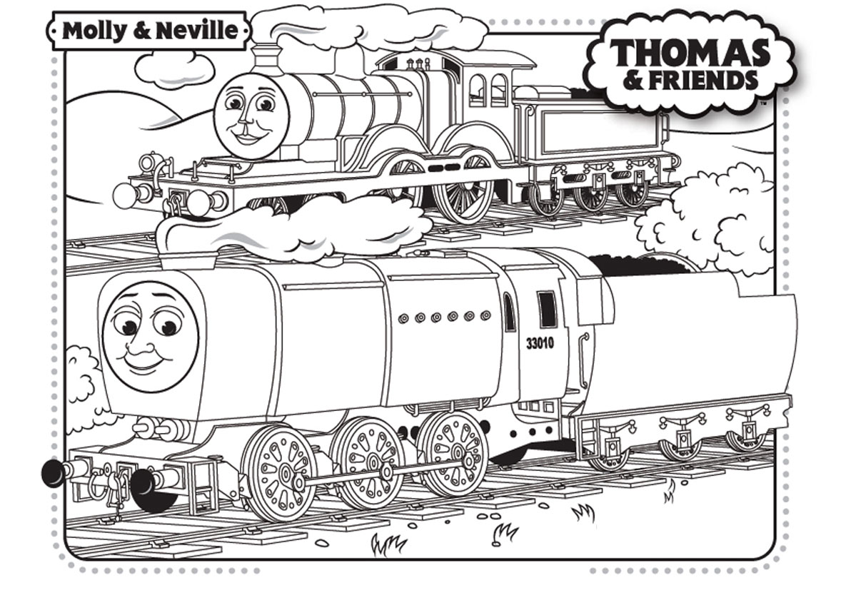 Thomas And Friends Free To Color For Kids