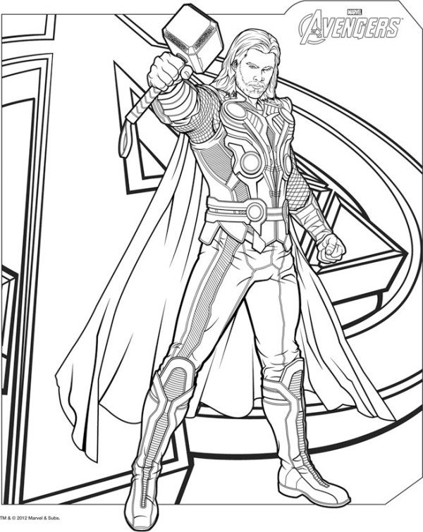 thor coloring page # 5