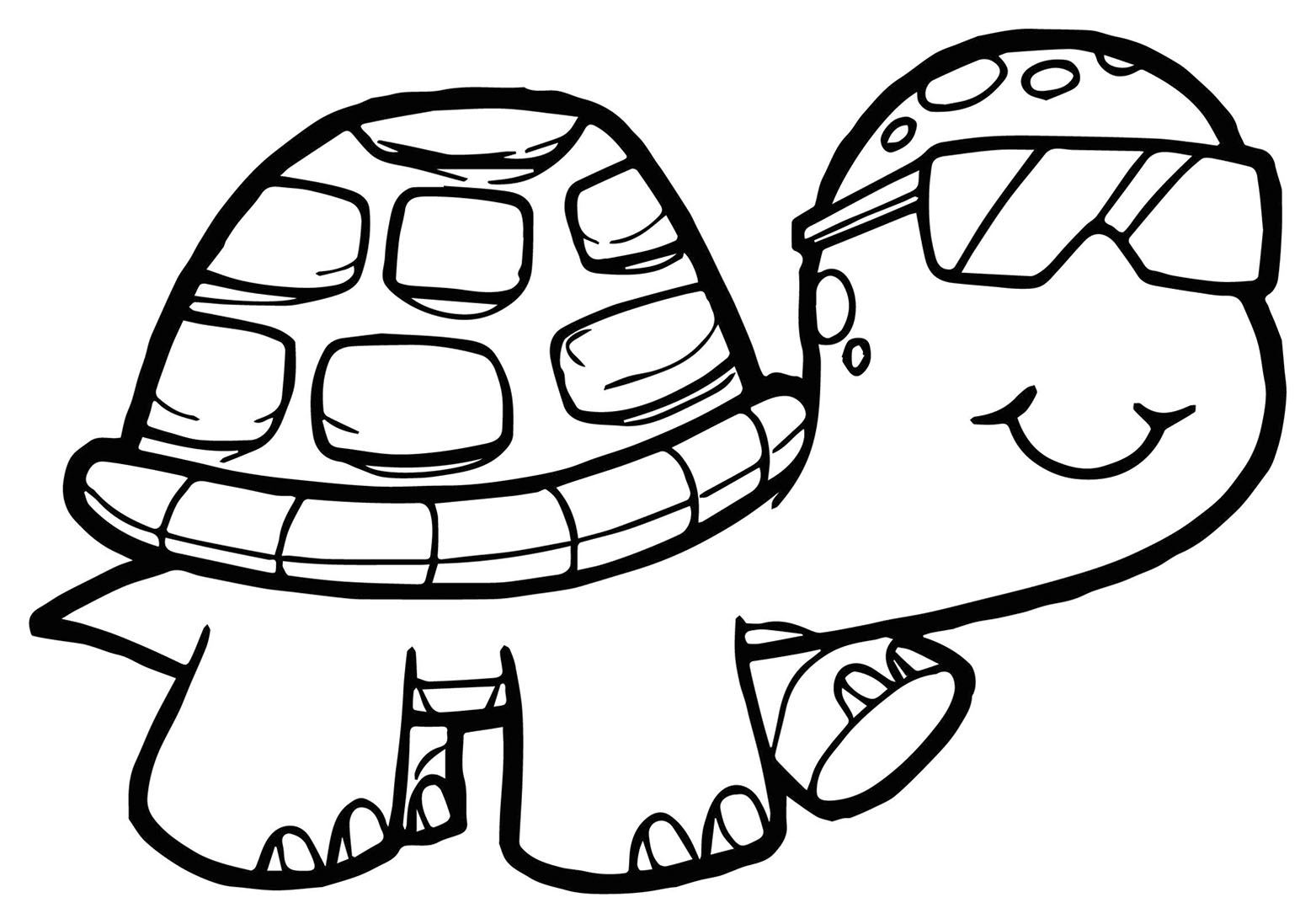Turtles Free To Color For Kids