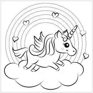 free coloring kids unicorn # 64