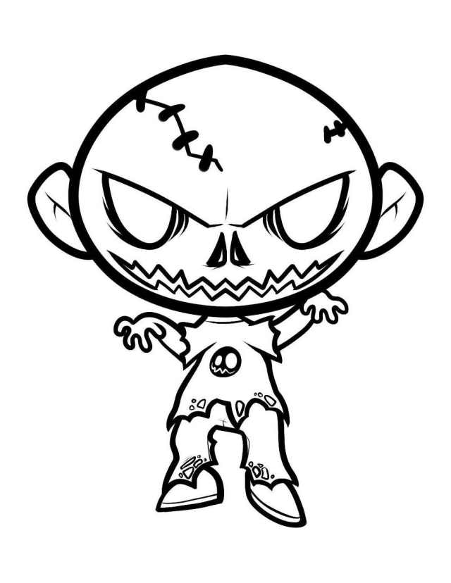 Zombies to color for children - Zombies Kids Coloring Pages