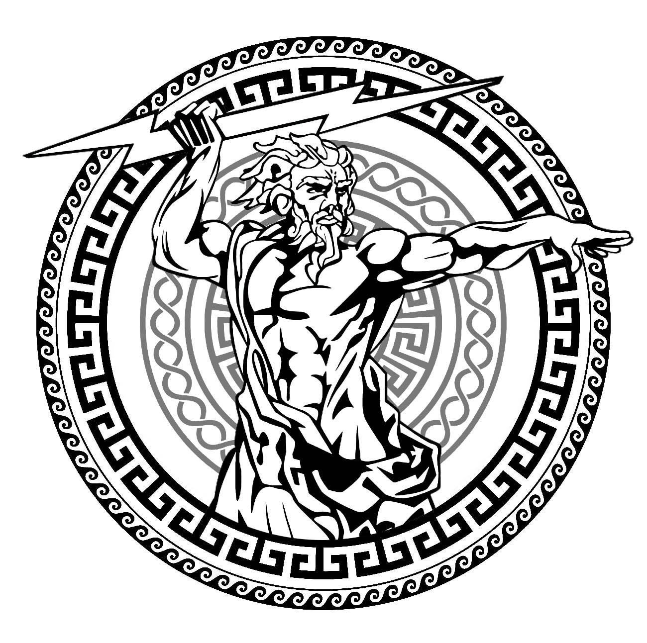 Zeus Cercle Greek Circle