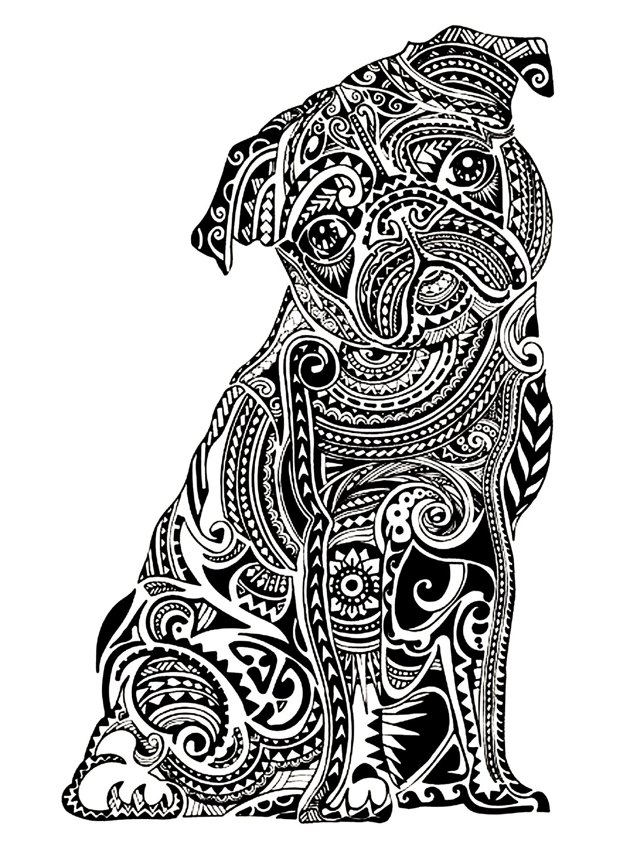 Coloring Pages Of Animals Hard Coloring Page