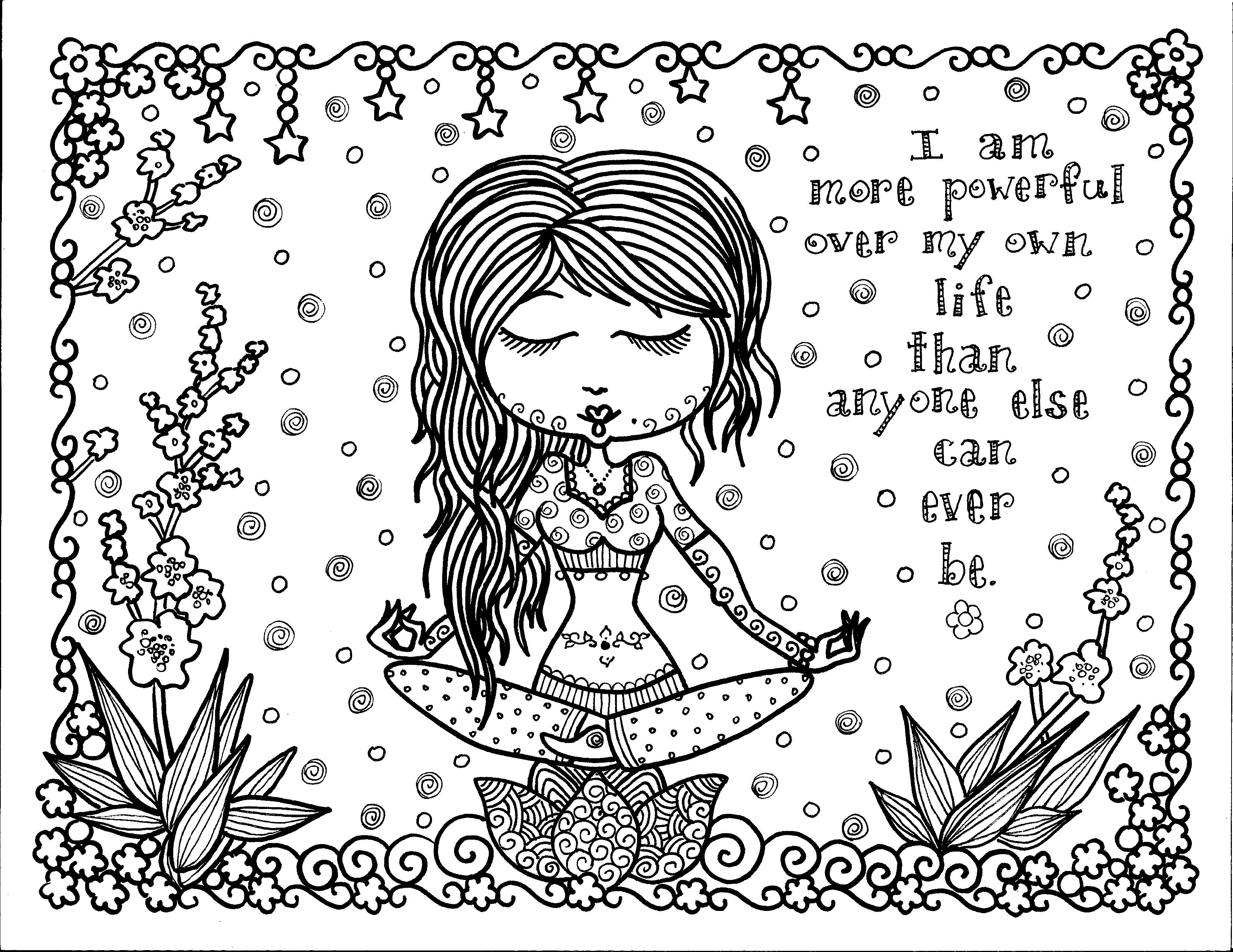 Positive Thought Zen And Anti Stress Coloring Pages For Adults