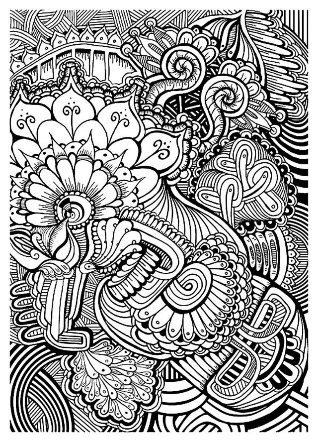 Zen anti stress relax to print - Anti stress Adult Coloring Pages