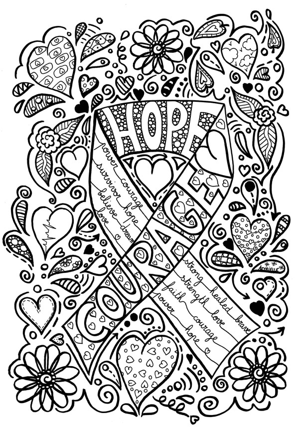 breast cancer coloring pages # 2