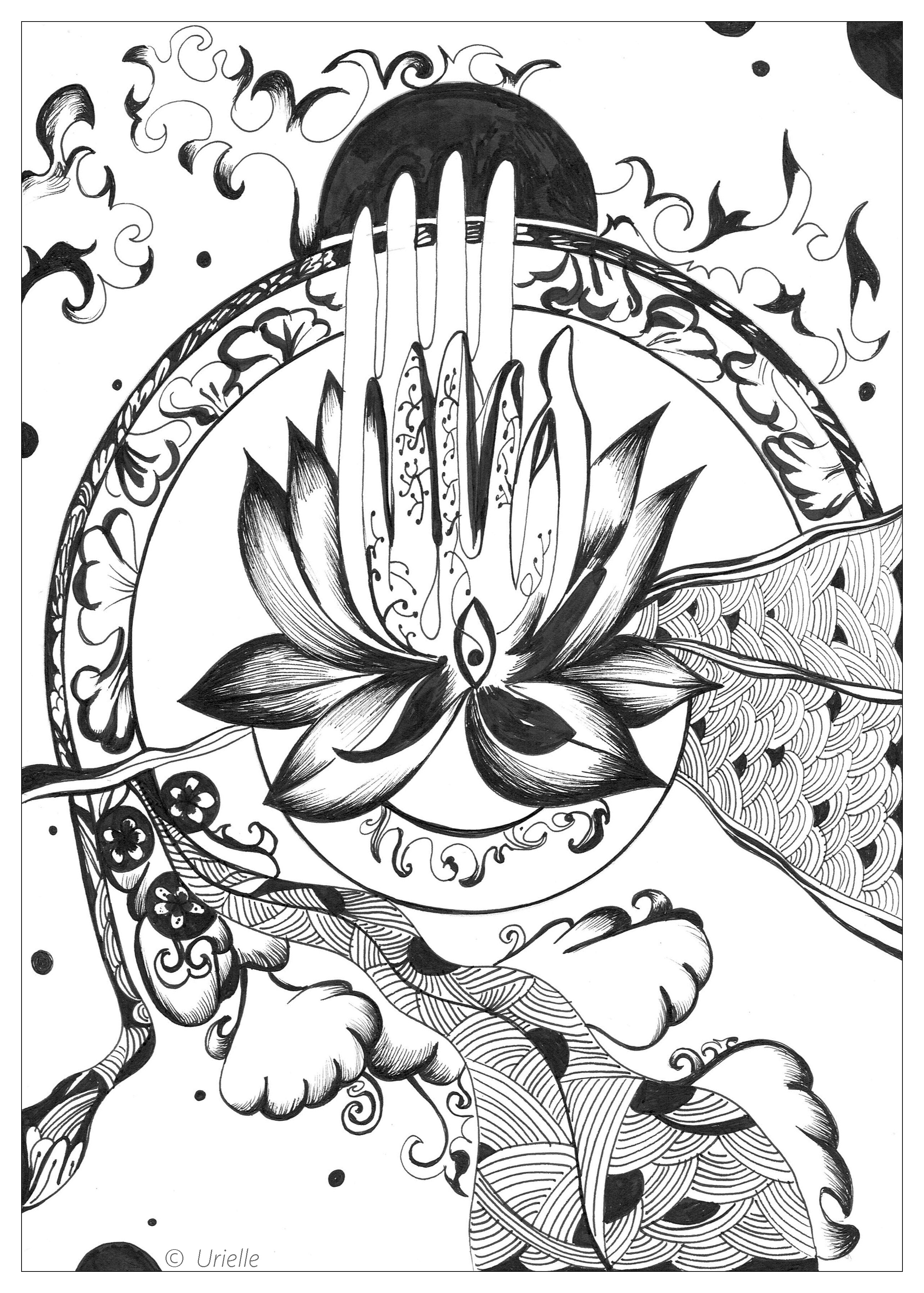 Urielle Peace And Serenity Zen And Anti Stress Coloring Pages