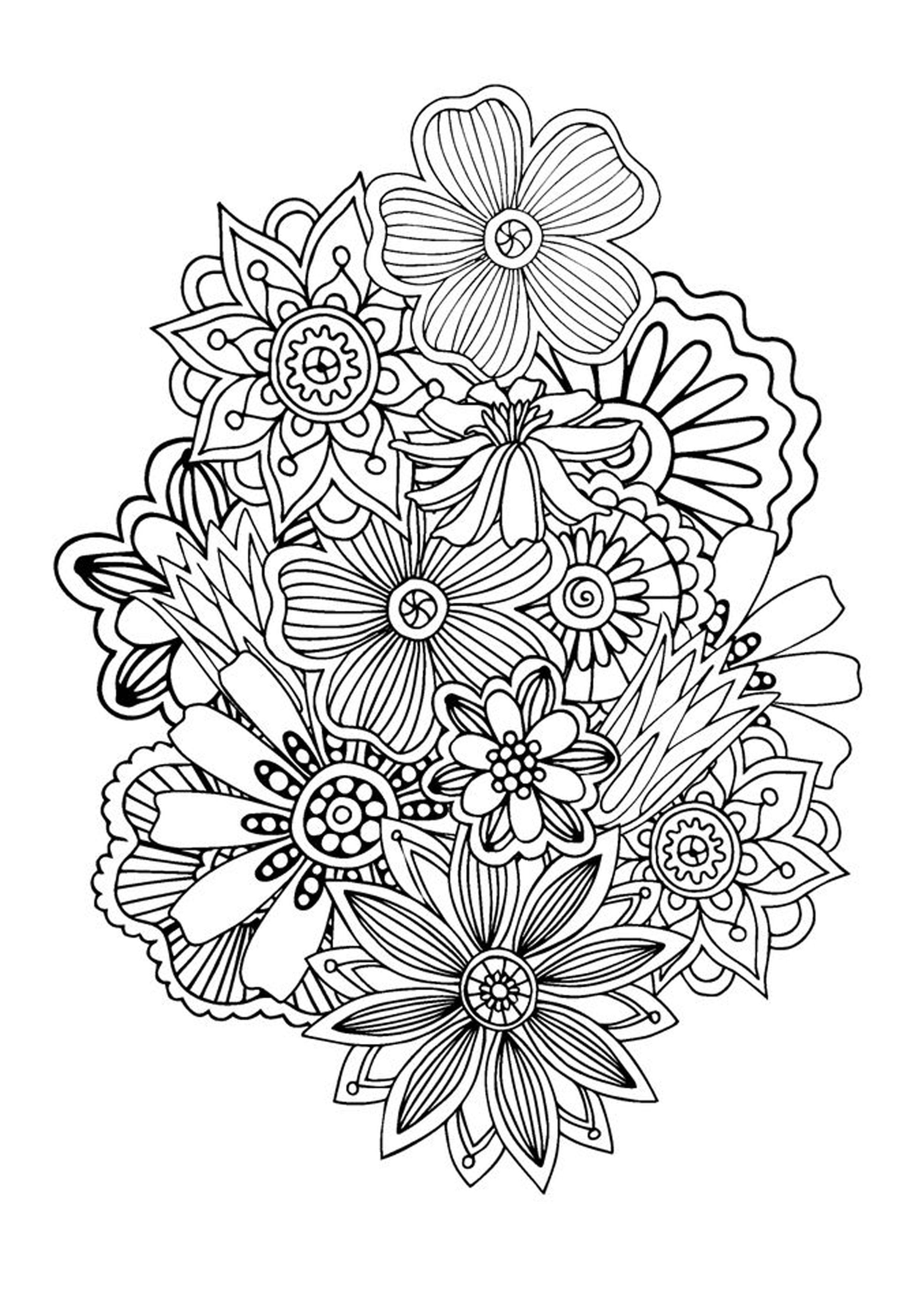 Zen And Anti Stress Coloring Pages For Adults Justcolor Page 6