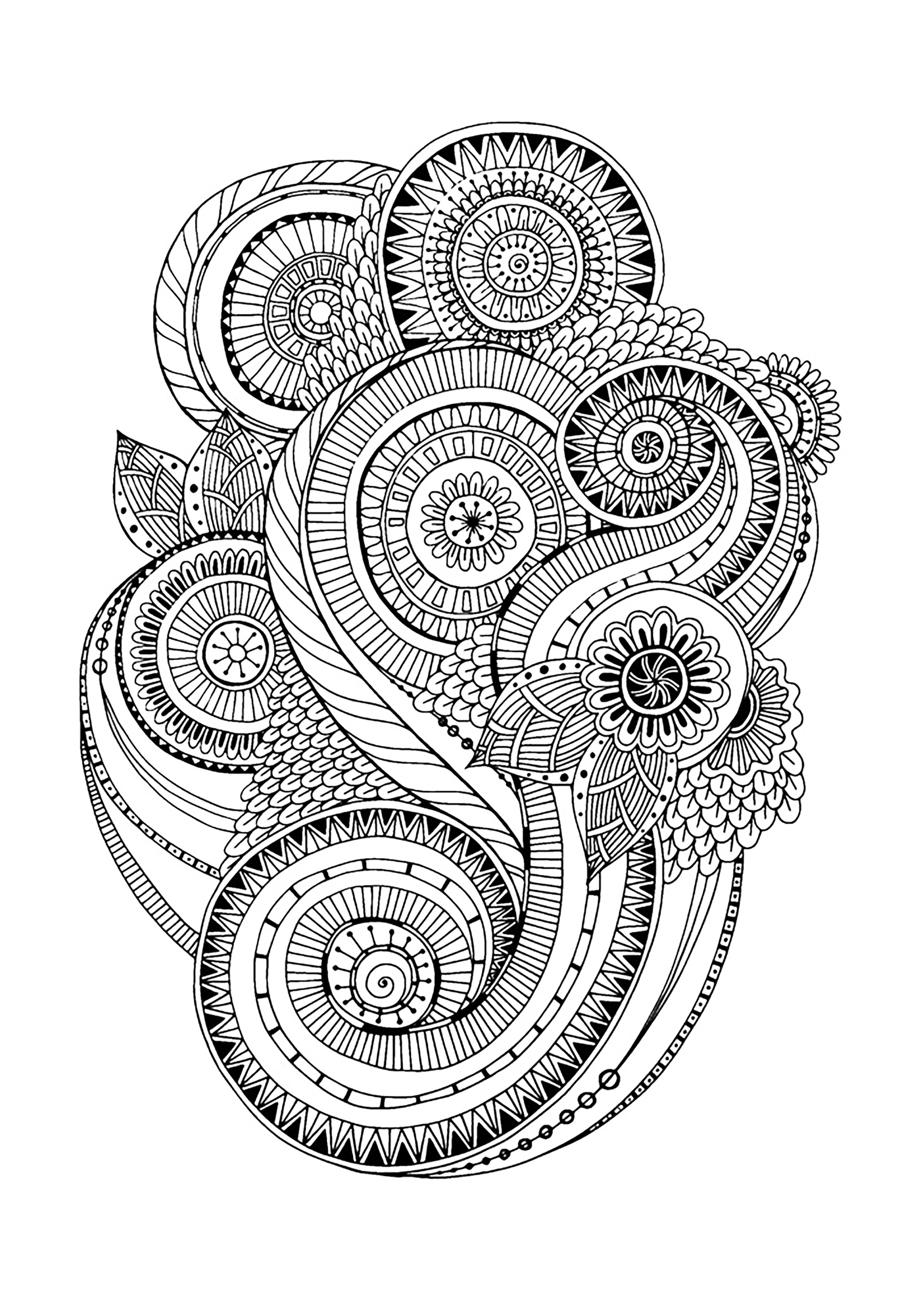 Zen Antistress Abstract Pattern Inspired By Flowers 2 By