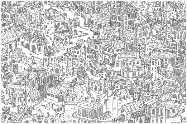 city coloring pages # 6