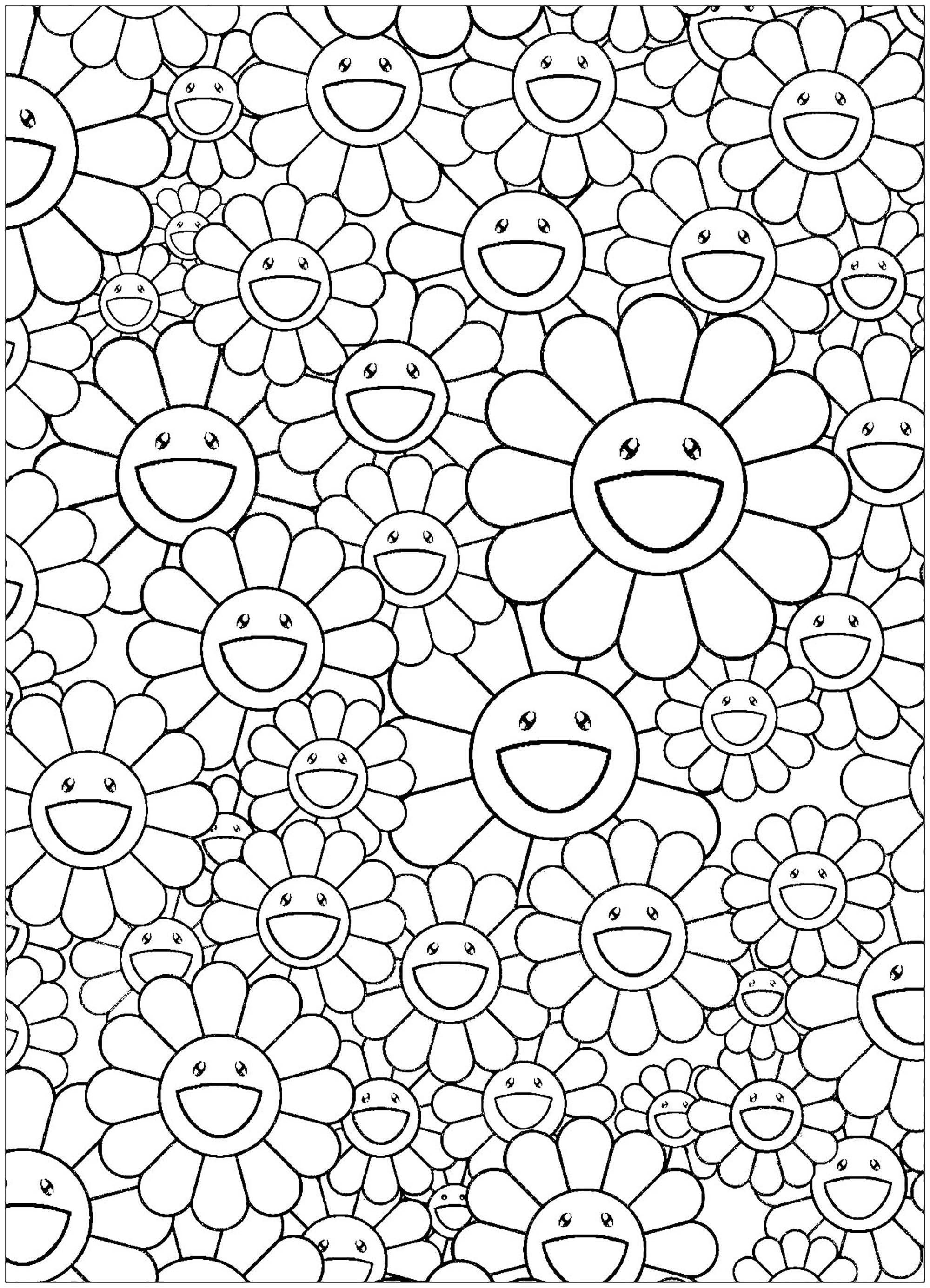 Takashi Murakami Flowers Blossoming Simple Masterpieces