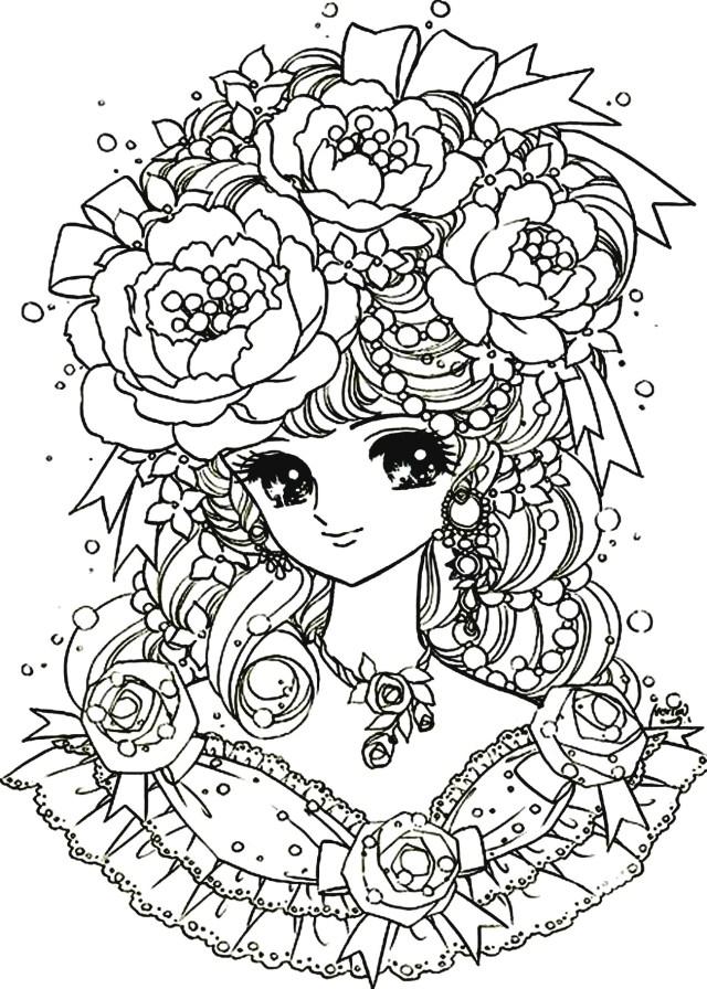 Back to childhood manga girl flowers - Return to childhood Adult