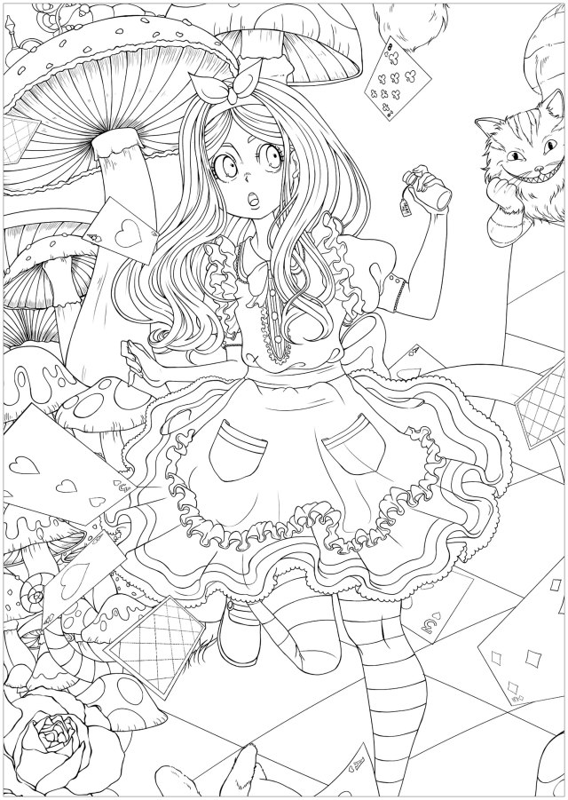 Alice in wonderland easier version - Return to childhood Adult