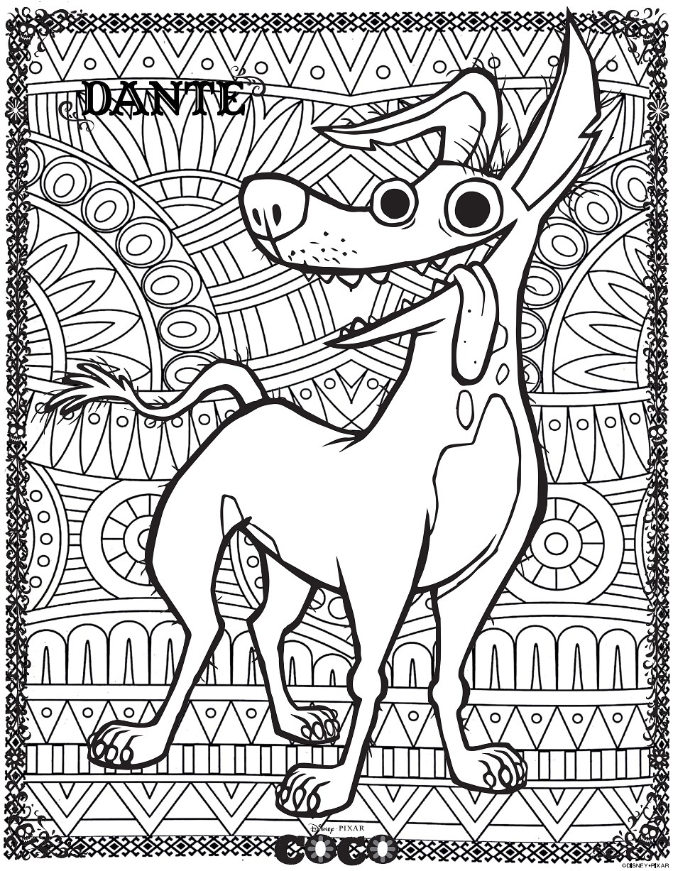 Disney Coco Dante 2 Return To Childhood Coloring Pages For