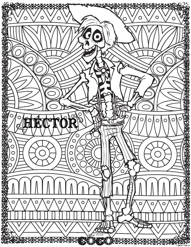 Coco : Hector - Return to childhood Adult Coloring Pages