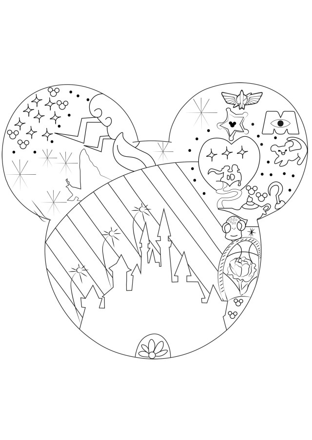 Disney universe - Return to childhood Adult Coloring Pages